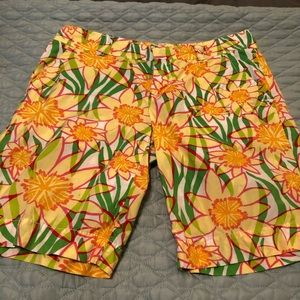 Lilly Pulitzer floral cotton shorts size 2